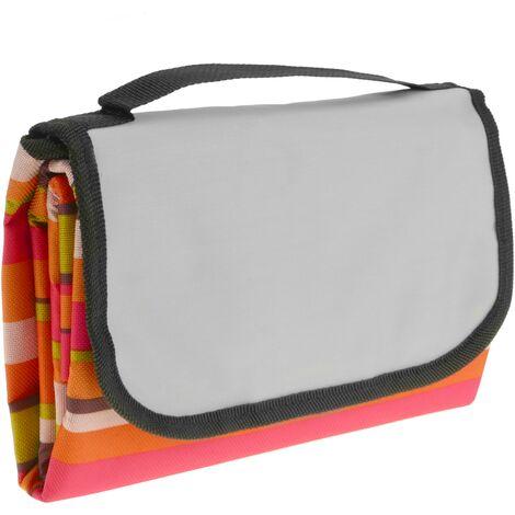 PrimeMatik - Picnic blanket 150 x 130 cm multicolored wide stripes