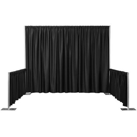PrimeMatik - Pipe-and-drape black velvet fabric H: 1m x W: 2m