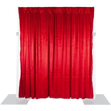 PrimeMatik - Pipe-and-drape red velvet fabric H: 1m x W: 2m