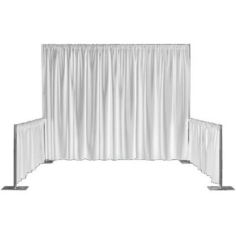 PrimeMatik - Pipe-and-drape white velvet fabric H: 1m x W: 3m