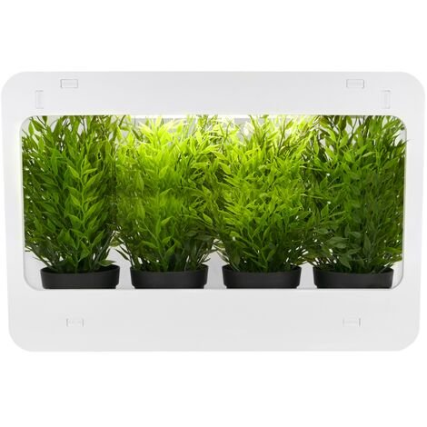 PrimeMatik - Plant garden growing kit for indoor use with white LED light 850 lm 14W