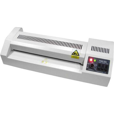 PrimeMatik - Plastificadora térmica A4 Laminadora de documentos en caliente y frío 420W