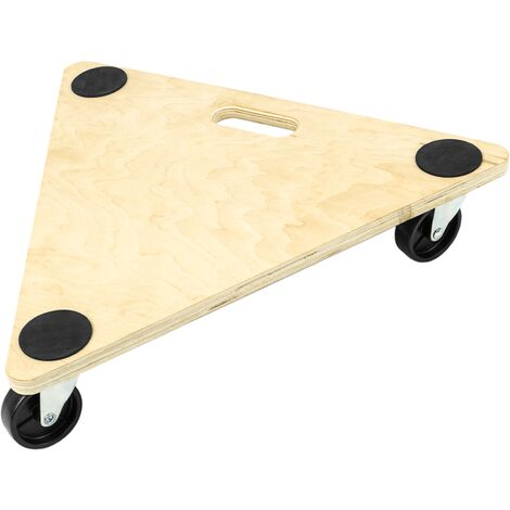 PrimeMatik - Plateforme triangulaire de chariot et chargement avec roulettes 545 mm