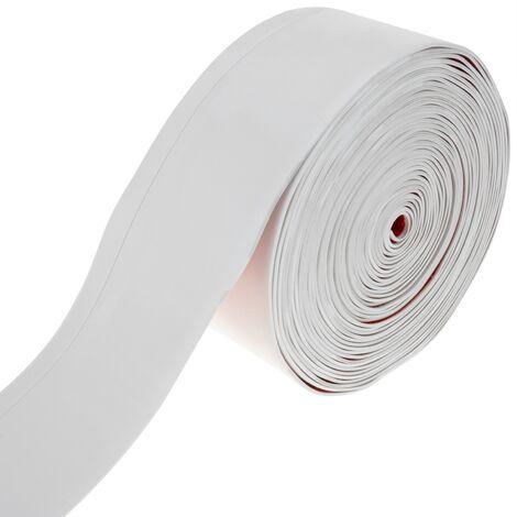 PrimeMatik - Plinthe flexible autocollante 70 x 20 mm. Longueur 10 m blanc