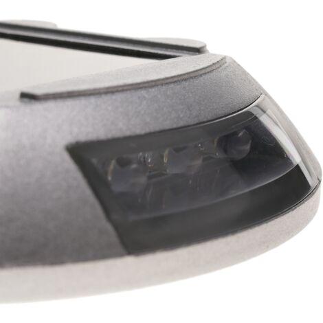 PrimeMatik Plot routier solaire LED r/éfl/échissant de signalisation 105x105x20mm aluminium 2-pack