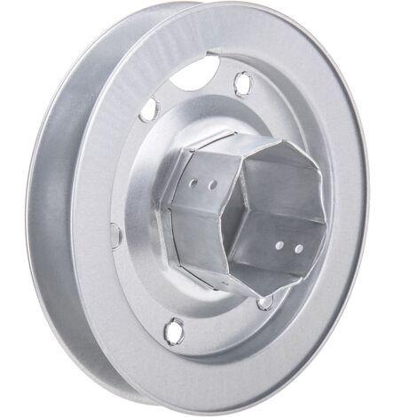 PrimeMatik - Polea metálica para eje de persiana de 60 mm