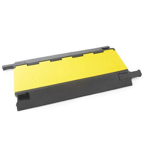PrimeMatik - Protection au sol pour câbles en caoutchouc 3 voies 90x50cm