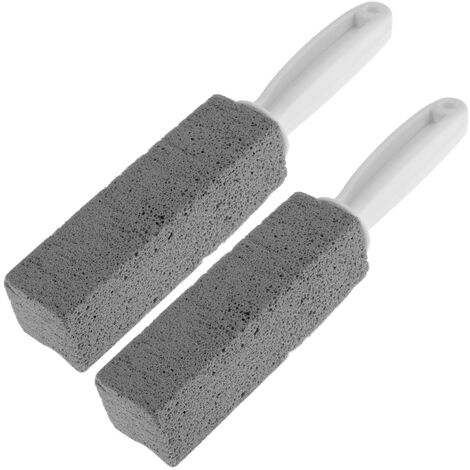 PrimeMatik - Pumice stone for cleaning, polishing and scouring. Package of 2 bars with handle of 135 x 38 x 38 mm