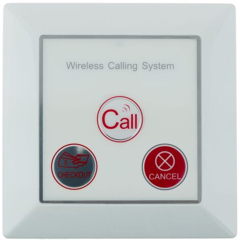 PrimeMatik - Pushbutton transmitter for wireless calling system wallmount 500m 3 keys