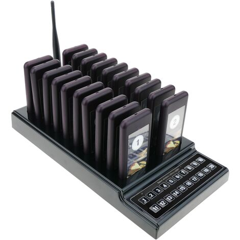 PrimeMatik - Queues wireless management calling system base with 10 keys and 20 pagers