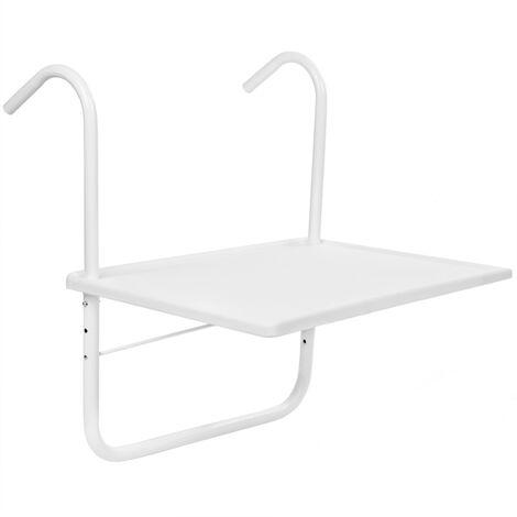 PrimeMatik - Rectangular polypropylene table for balcony 52x40cm white