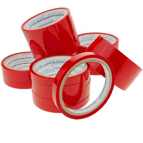 PrimeMatik - Red adhesive tape for bag neck sealer tape dispenser 24-pack