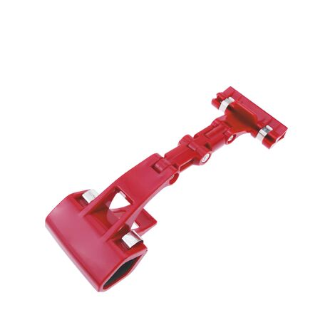 PrimeMatik - Red articulated plastic support with clamp