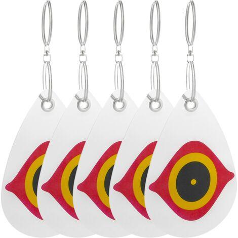 PrimeMatik - Reflective discs bird repellents Bird repeller Scarecrow 5-pack