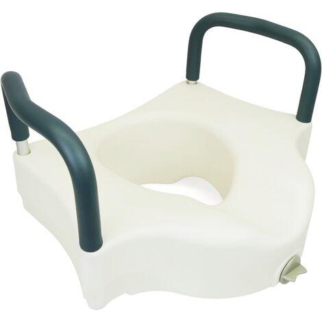 PrimeMatik - Réhausseur de WC toilettes et salle de bains avec accoudoirs pour WC