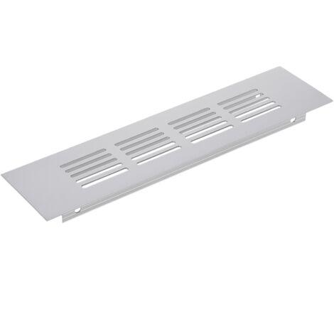 PrimeMatik - Rejilla de ventilación para zócalo aluminio 200x50mm