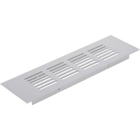 PrimeMatik - Rejilla de ventilación para zócalo aluminio 200x60mm