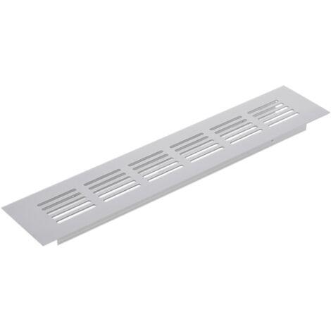PrimeMatik - Rejilla de ventilación para zócalo aluminio 250x50mm