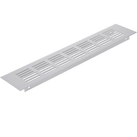 PrimeMatik - Rejilla de ventilación para zócalo aluminio 250x60mm