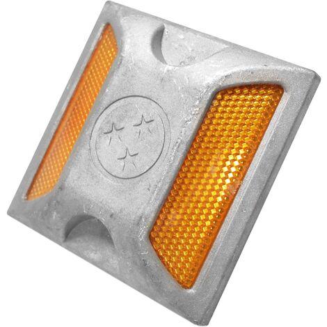PrimeMatik - Road Reflector 100x100x20mm aluminum Floor