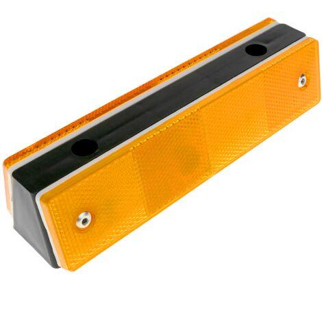 PrimeMatik - Road reflector road for wall double orange 180x50x40mm plastic