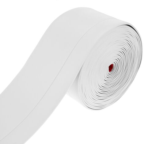 PrimeMatik - Rodapié flexible autoadhesivo 50 x 20 mm. Longitud 5 m blanco