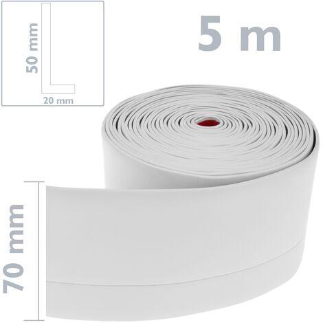 Rodapi/é Flexible Autoadhesivo 50 x 20 mm PrimeMatik Longitud 20 m Negro
