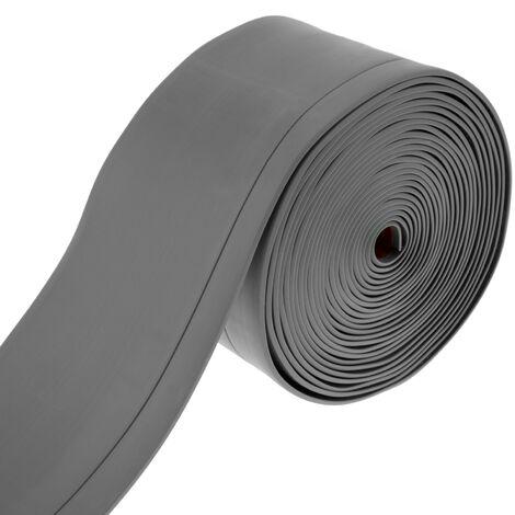 PrimeMatik - Rodapié flexible autoadhesivo 70 x 20 mm. Longitud 5 m gris