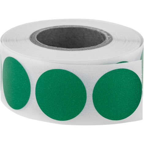 PrimeMatik - Roll of 500 green round adhesive labels 19 mm