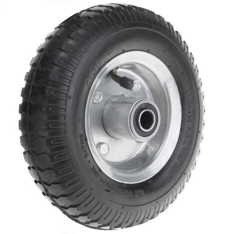 """PrimeMatik - Roue de brouette pneumatique 90 Kg 8x2.5"""" 203x64 mm pour charettes chariots et plates-formes de transport"""
