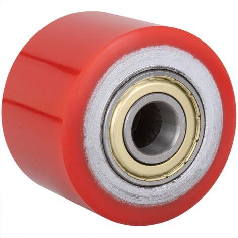 PrimeMatik - Roue pour transpalette Rouleau pour palette en polyuréthane 80x70 mm 800 Kg