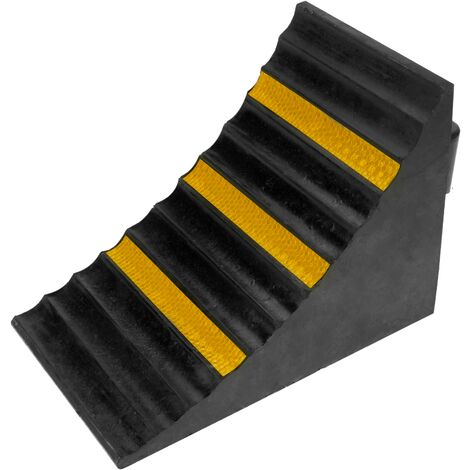 PrimeMatik - Rubber Wheel Chock for cars and vehicles. Stoppers for trailer and caravan