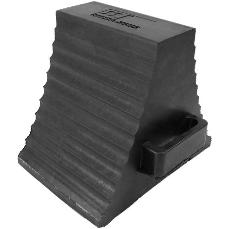 PrimeMatik - Rubber Wheel Chocks for cars and vehicles. Dual stoppers for trailer and caravan
