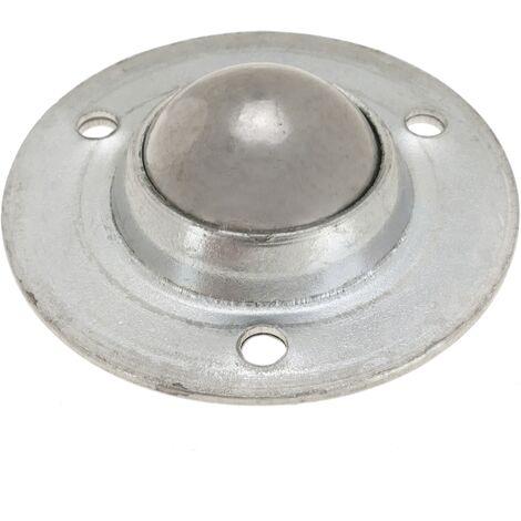 PrimeMatik - Rueda de bola de metal 19 mm para puertas y muebles