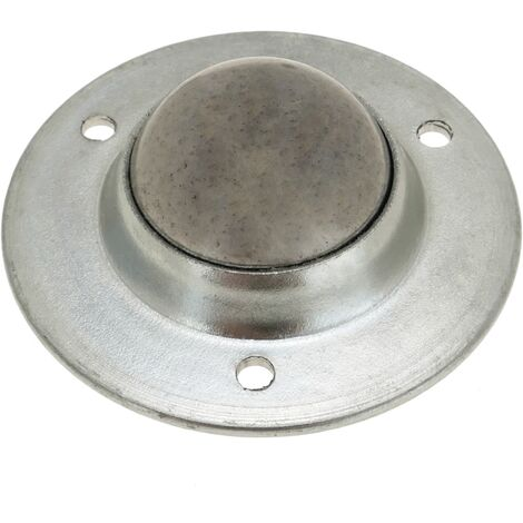 PrimeMatik - Rueda de bola de metal 24 mm para puertas y muebles