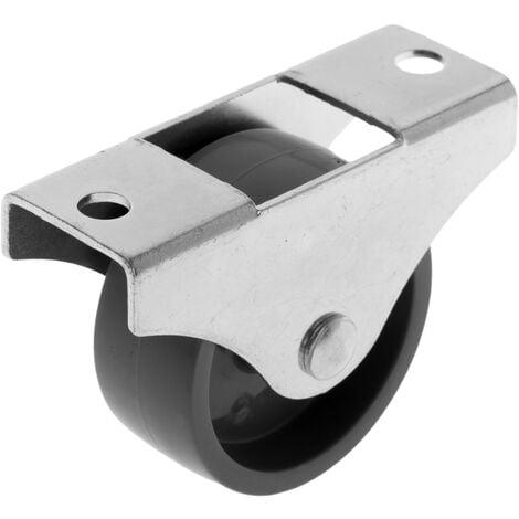 PrimeMatik - Rueda de nailon 45 mm para puertas y muebles