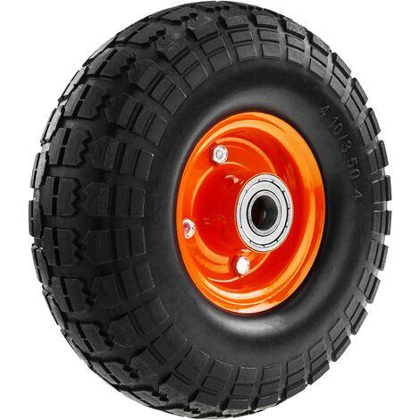"""PrimeMatik - Rueda maciza de carretilla anti-pinchazos 120 Kg 10x3.5"""" 254x89 mm para carros y plataformas de transporte"""