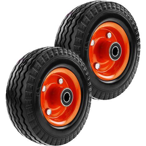 """PrimeMatik - Rueda maciza de carretilla anti-pinchazos 2-pack 50 Kg 6x2"""" 152x50 mm para carros y plataformas de transporte"""