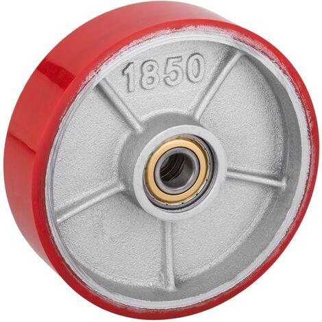 PrimeMatik - Rueda para transpaleta Rodillo de poliuretano de 180x50 mm 900 Kg