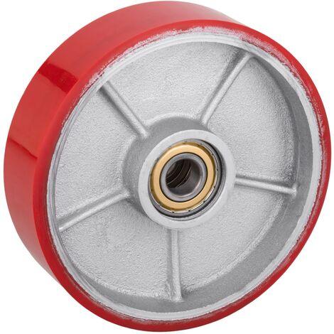 PrimeMatik - Rueda para transpaleta Rodillo de poliuretano de 200x50 mm 950 Kg