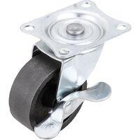 PrimeMatik - Rueda pivotante industrial de metal con freno 50 mm