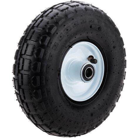 """PrimeMatik - Ruota pneumatica di carriola 136 Kg 10x3,5"""" 254x89 mm per piattaforme di trasporto"""