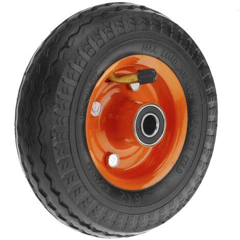"""PrimeMatik - Ruota pneumatica di carriola 136 Kg 6x2"""" 152x50 mm per piattaforme di trasporto"""
