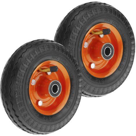 """PrimeMatik - Ruota pneumatica di carriola 2-pack 136 Kg 6x2"""" 152x50 mm per piattaforme di trasporto"""