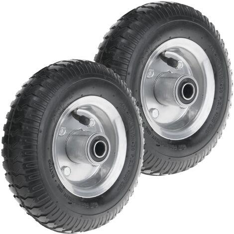 """PrimeMatik - Ruota pneumatica di carriola 2-pack 90 Kg 8x2.5"""" 203x64 mm per piattaforme di trasporto"""