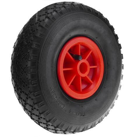 """PrimeMatik - Ruota pneumatica di carriola 70 Kg 10x3"""" 260x85 mm per piattaforme di trasporto"""