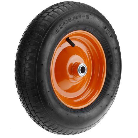 """PrimeMatik - Ruota pneumatica di carriola 95 Kg 16x4"""" 406x102 mm per piattaforme di trasporto"""