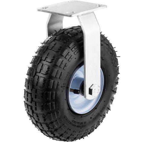 """PrimeMatik - Ruota pneumatica fissa di carriola 136 Kg 10x3,5"""" 254x89 mm per piattaforme di trasporto"""