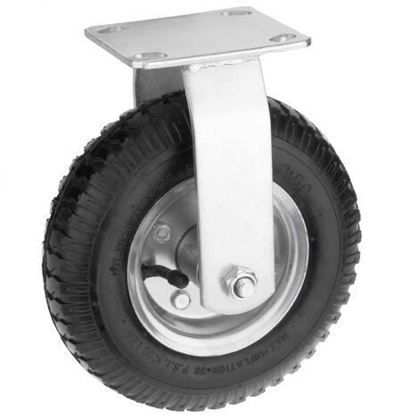 """PrimeMatik - Ruota pneumatica fissa di carriola 90 Kg 8x2.5"""" 203x64 mm per piattaforme di trasporto"""