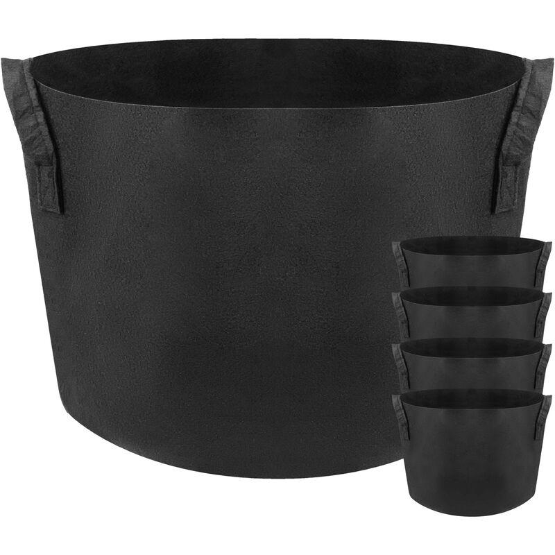 Sac jardinière pour plantes en croissance Pot de tissu de 40 litres 38x30cm 5-pack - Primematik